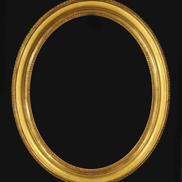 LXVI oval, fine gold – 60 mm