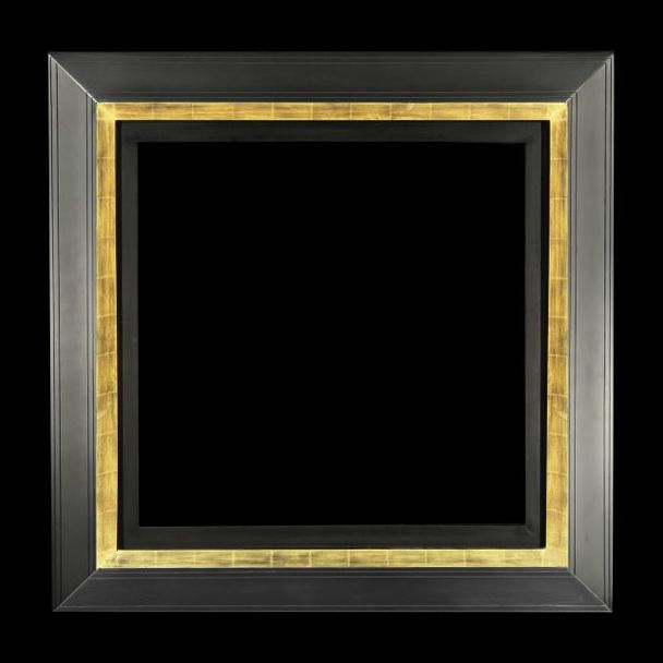 Contemporary Van Don 130 visible, fine gold on black base, satin black coated slope – 130 mm